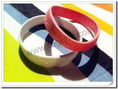 Concave word silicone bracelet2