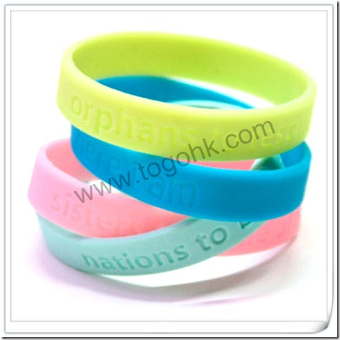 Concave word silicone bracelet3