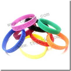 Debossed Silicone Watch Bracelet