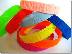 Silicone Bracelet With Debossed Logo