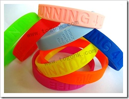 Custom rubber bracelet