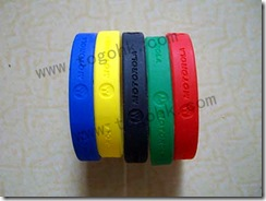 Fashion Debossed Silicone Bracelet