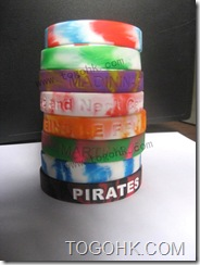 Custom Debossed/Embossed Silicone Bracelet Supplier