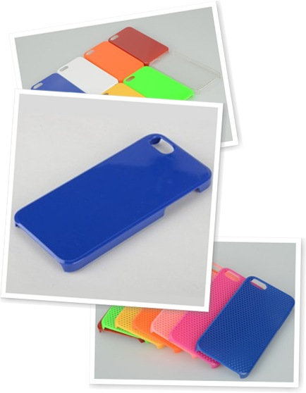 查看 Blue Plastic Silicon iPhone Case #2
