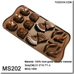 10 holes silicone chocolate mould
