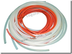 Red silicone rubber tube