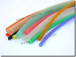 Colored silicone tube