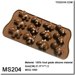 12holes animal silicone chocolate mould