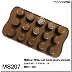 15holes round silicone chocolate mould