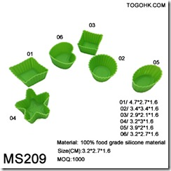 6sets silicone chocolate mould