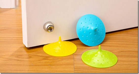 creative silicone door stopper