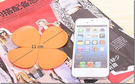 Creative 3D flower silicone coaster