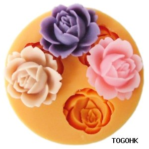 F0101 Silicone Flower Cake Decoration Mold, Silicone Resin Clays Jewelry Mould